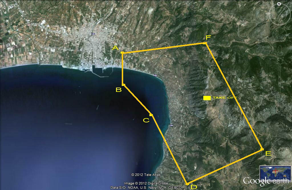 Parapente flights area